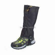 1 Pair Black Waterproof Outdoor Hiking Walking Climbing Hunting Snow Legging Gaiters(China (Mainland))