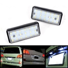 Buy Fit Toyota Land Cruiser Lexus LX GX470 Xenon White 18SMD LED License Plate Light for $11.21 in AliExpress store