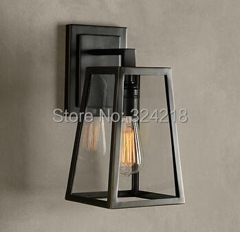 Wrought iron wall lamp brief modern lighting outdoor waterproof lighting fitting the door decoration lamp(China (Mainland))