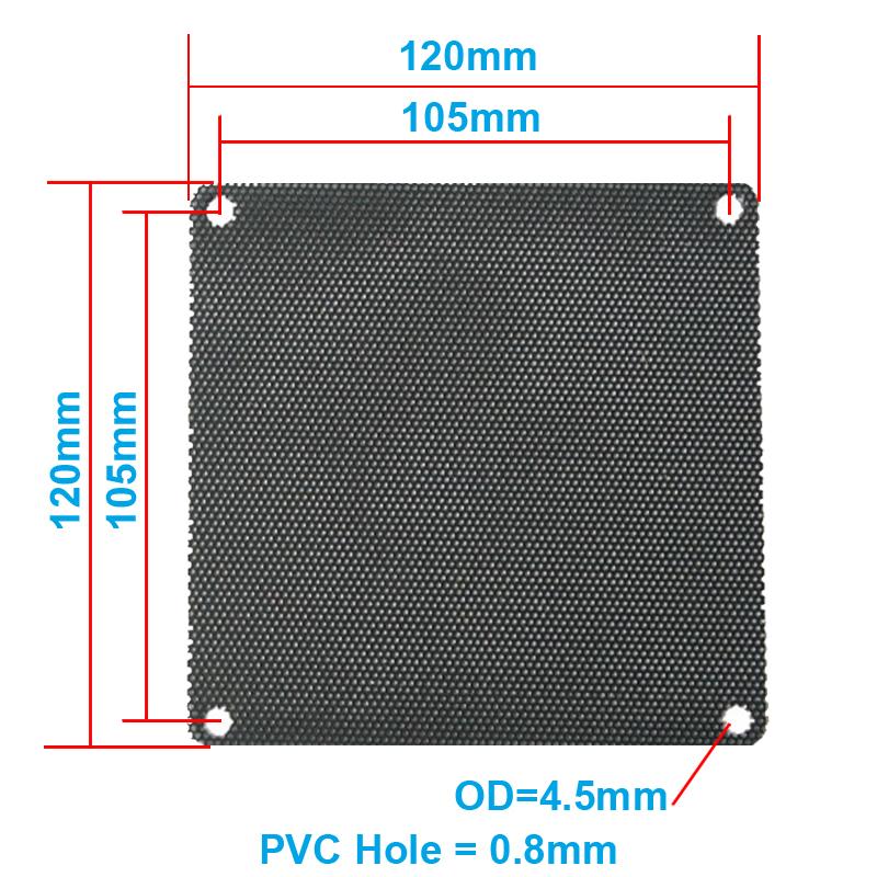 5pcs/lot 12CM Computer Mesh Black PVC PC Case Fan Cooler Dust Filter Dustproof Case Cover,120x120mm(China (Mainland))