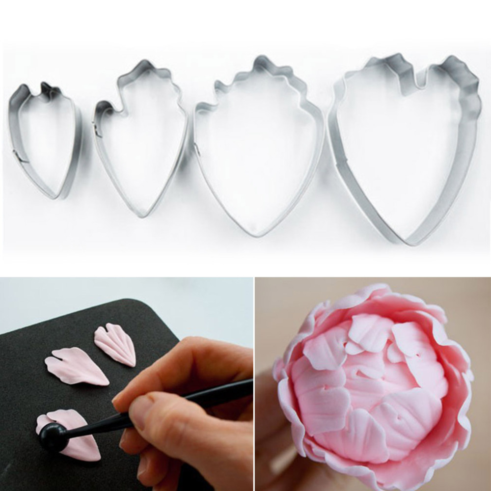 Cake Decorating Utensils : Hot sale Peony petal flower cutter, cake decorating tools ...