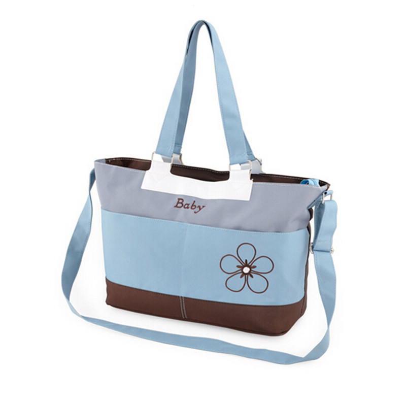 Baby Diaper Bags Mummy Nappy nursing Bags tote messenger shoulder fashion large capacity cute flower bag for mom free shipping(China (Mainland))
