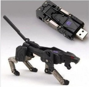 White Black Pen drive Cartoon Deform Animal Robot Cheetah Model 2.0 USB flash drive memory stick 4GB 8GB 16GB 32GB(China (Mainland))