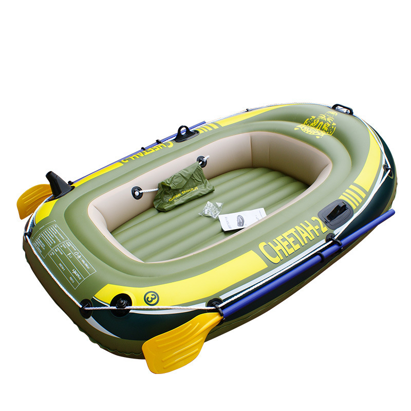 2 person inflatable boat hot sale two kayaking thicken 2 for Rubber boats for fishing