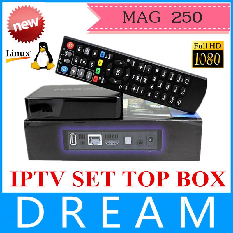 2015 New Mag250 Linux 2.6.23 System IPTV Set Top Box Processor STi7105 RAM 256
