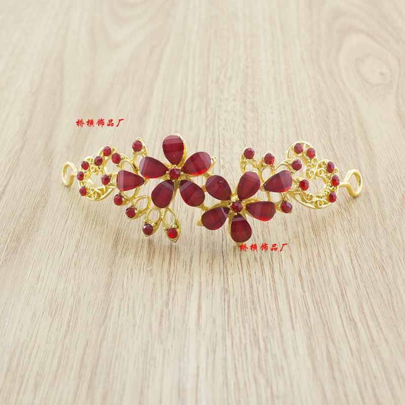 New Design Gold Silver Plated Flower Tiaras Wedding Party Prom Hair Accessories bridal Rhinestone Headband floral Headwear(China (Mainland))