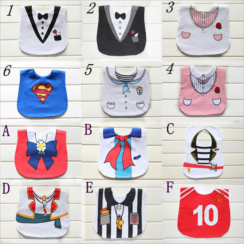 Free shipping Dress shape cotton Newborn baby Burp cloth 0-3T Infant Saliva Towels Baby girl bibs & Baby boy bibs(China (Mainland))