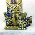 High Quality African Wax Prints Fabric 3pcs Super Wax Hollandais With hand bag Women Fashion hand