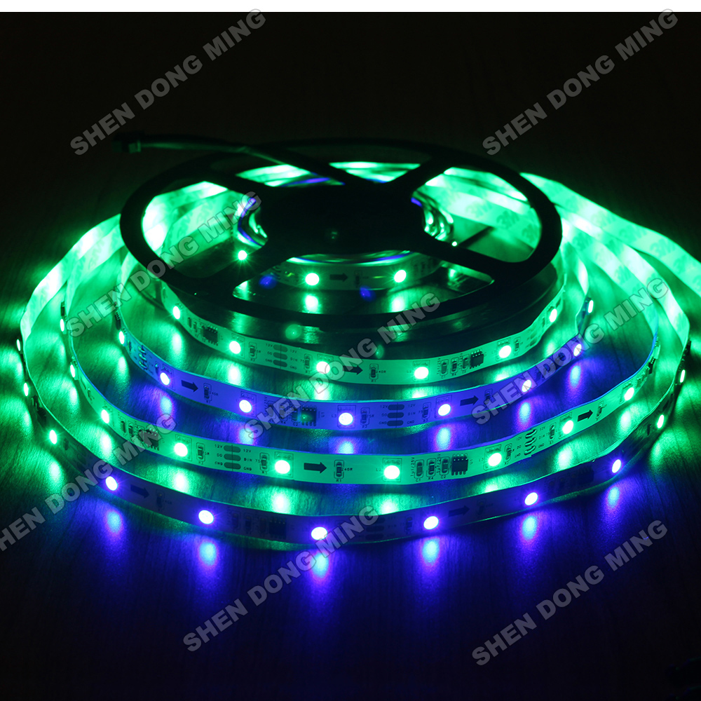 5m 30leds/m 10IC/M 5050 changeable RGB led pixel strip neon light, UCS1903 TV Light Arduino digital led strip(China (Mainland))