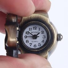 2015 nuevos calientes 3 colores para elección Vintage Pary joyería del anillo de dedo del cráneo gótico punky reloj de cuarzo decoración dedo