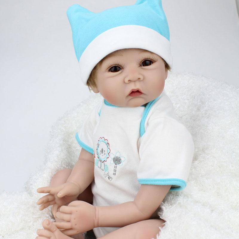 22 inch collectible pop siliconen reborn baby poppen met de hand gemaakt realistische baby - Baby boy versiering van de zaal ...