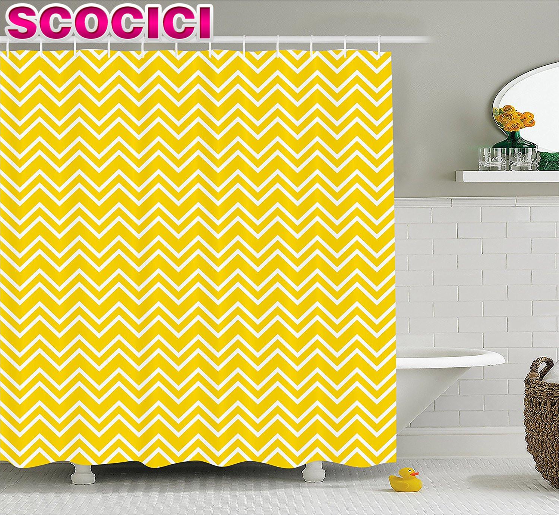 chevron jaune rideaux promotion achetez des chevron jaune. Black Bedroom Furniture Sets. Home Design Ideas