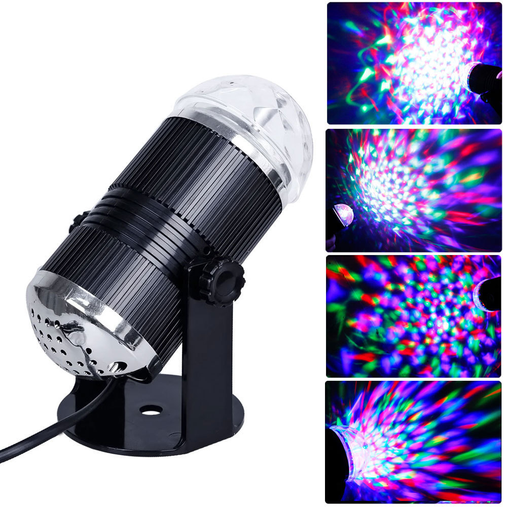 Professional Music Active LED Light Laser RGB Stage Effect Lighting Club Disco DJ Party Bar US Plug, Romantic Atmosphere Light(China (Mainland))