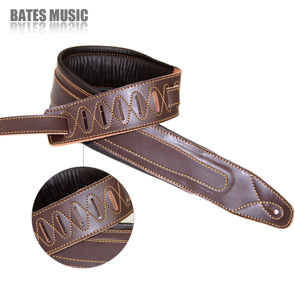 2016 Genuine leather electric thick guitar strap electric guitar staps Bass strap Adjustable guitar belt(China (Mainland))