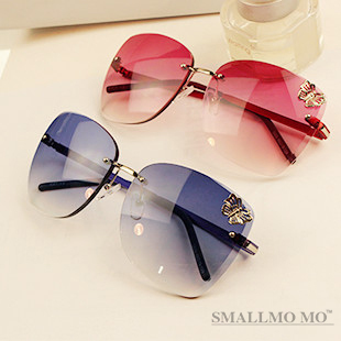 Butterfly 2013 Europe America Big Metal Box Frameless Sunglass Authentic Sunglasses Man& Women Frog Mirror - Life in Color Co.,Ltd store
