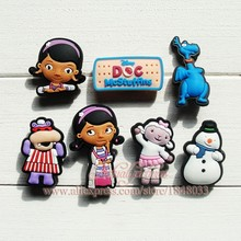 PVC Shoe Charms birthday Gift 21pcs/set Doc McStuffins Cartoon Shoe Accessories clips for shoe ornaments children fashion gifts(China (Mainland))