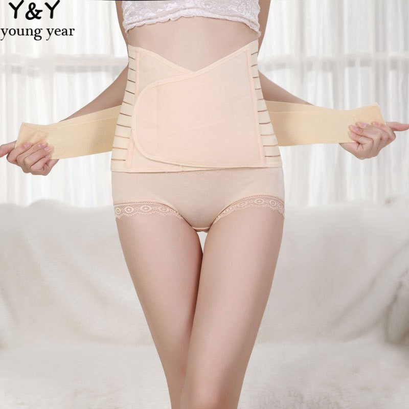 Womens Tummy Control Underbust Slimming Body Shapers Stomach Wrap Trimmer Belly Band Waist Training Corsets Postpartum Girdles - Young Year store