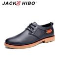 JACKSHIBO 2016 luxury brand men genuine leather shoes uniform formal leather shoes dress for man high