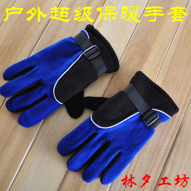 Outdoor sports hiking skiing unflattering ride full slip-resistant cold-proof windproof waterproof wear-resistant thermal gloves