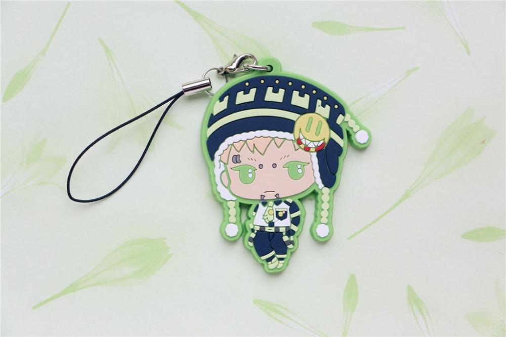 DRAMAtical Murder DMMD Cosplay Noiz detailed PVC Figure Cell Phone Strap Charm(China (Mainland))