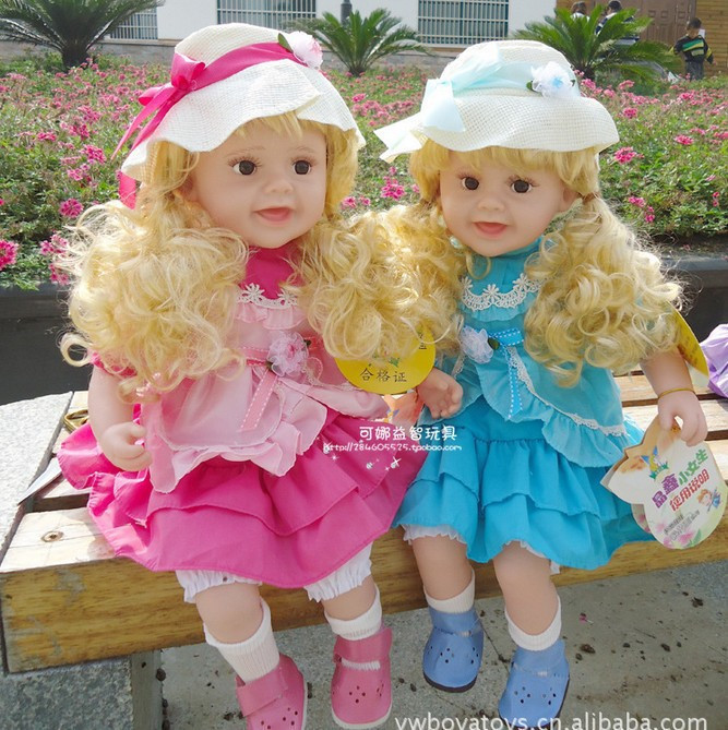 Free shipping Popular Touch Intelligent electric Doll Educational Toy Talking Doll Set Music(China (Mainland))