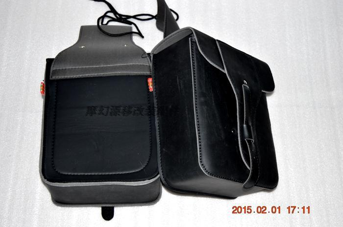 Free shipping motorcycle side bag motorcycle cruising car modified edge package Bag chartered side boxes side saddle bag / Brown