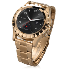 Luxury Gold Stainless Steel Smart Watch A8 With Circular Screen IP67 Waterproof Bluetooth Heart rate monitor