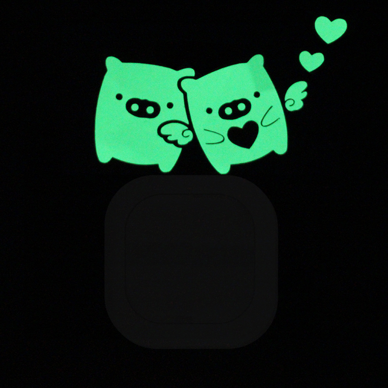 1pc Luminous Cartoon DIY Switch Sticker Wall Sticker Decoration Fluorescent Living Room Children Room Home Decor Fairy Cat Moon
