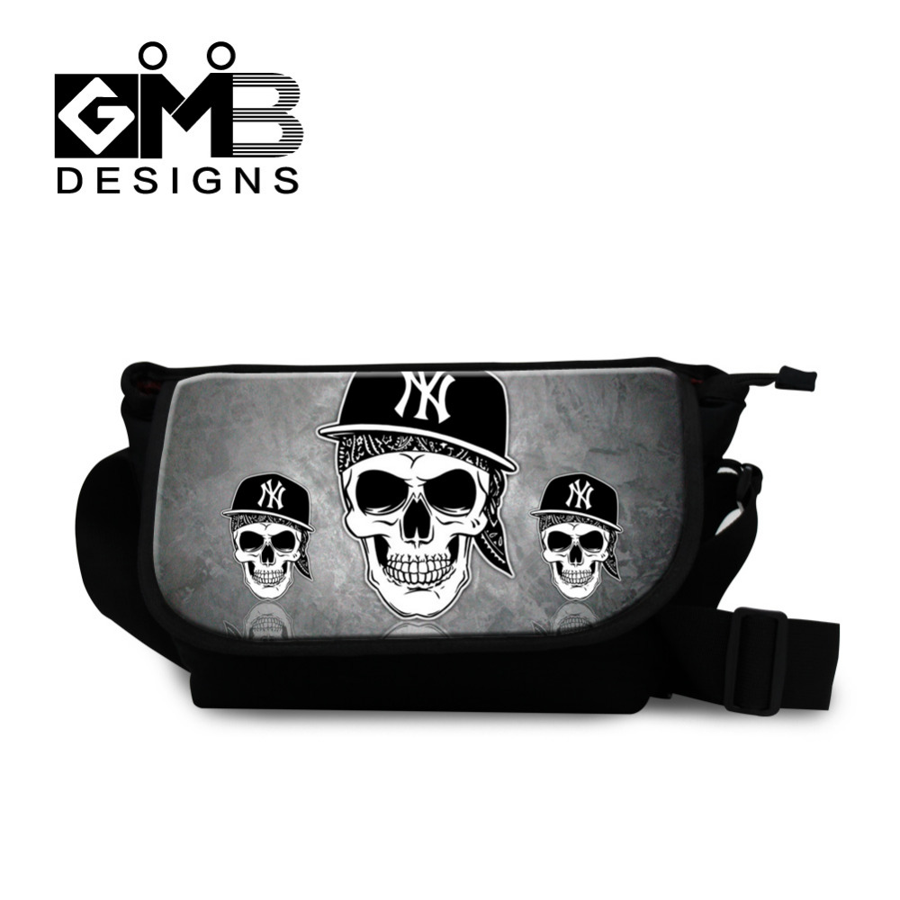 High Quality Women Messenger Bags Cool Skull 3D Printing Crossbody Bag Canvas Ladies Handbags Casual Shoulder Bag Bolsa Feminina(China (Mainland))