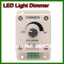 Led Dimmer DC 12 V 24 V 8A 96 W brillo ajustable de la lámpara de gaza Bulb doble Color de la luz controlador de fuente de alimentación 5050 3528(China (Mainland))