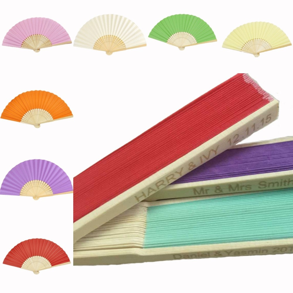 10pcs* Personalized Ladies Bamboo & Paper Fan Hollow Out Hand Folding Fans Outdoor Dancing Wedding Party Favor PPF01(China (Mainland))