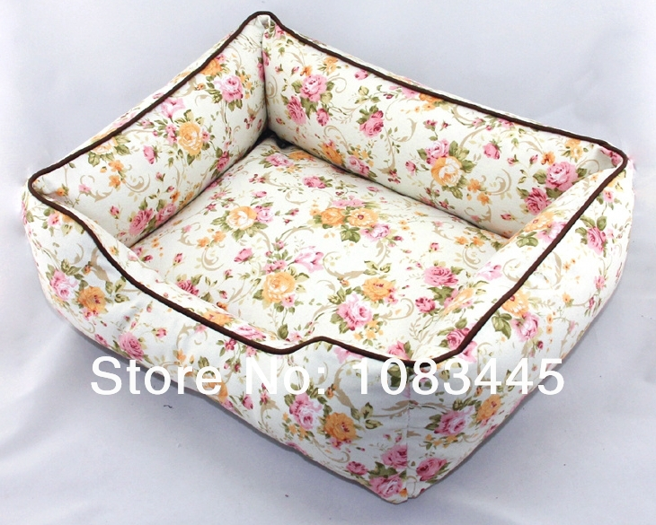 Free shipping Unique Design Dog Cat House Pet Dog Bed Pet Home flower stlye 5 choices(China (Mainland))