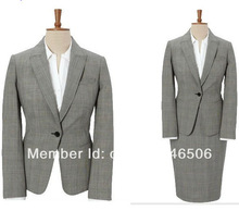 2014 New Style Free Shipping OL one button notch lapel custom made women's suit fashion skirt suit women 3/1501