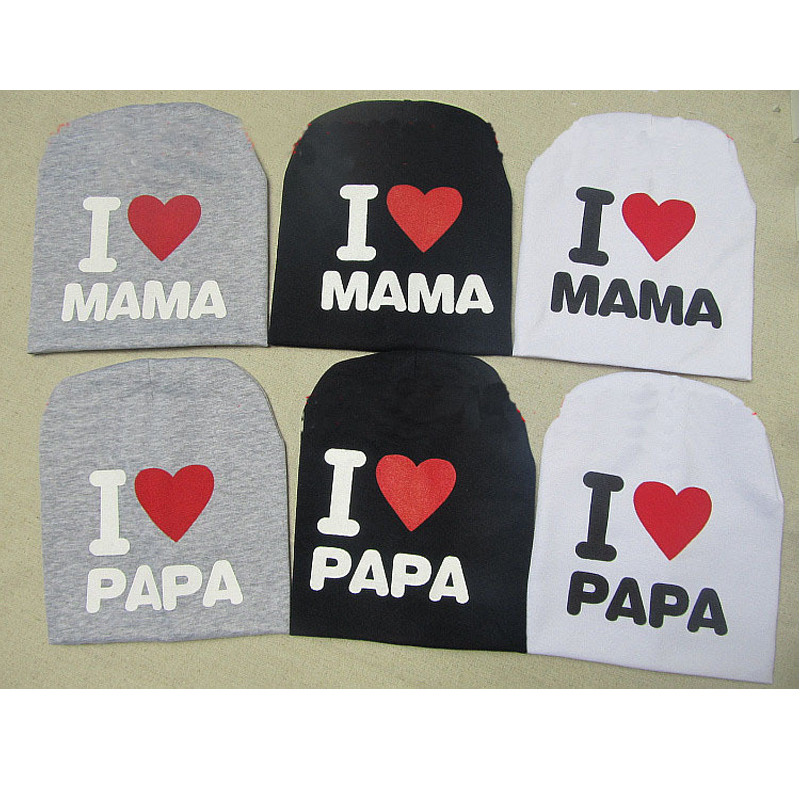 Free-shipping-20cm-wide-18cm-high-Children-Hat-I-love-papa-I-love-mama-Child-knitted