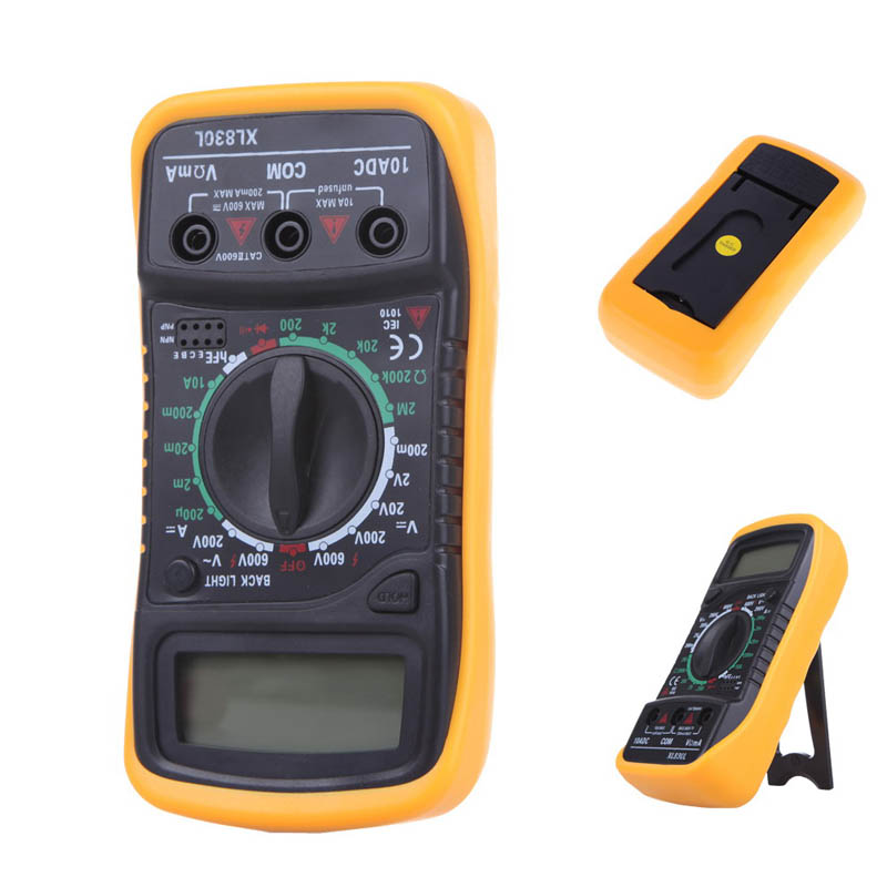 Hot !!! 1pc High Quality Mini Digital LCD Multimeter Voltmeter Ammeter AC DC OHM Volt Tester Test Current Free Shipping(China (Mainland))