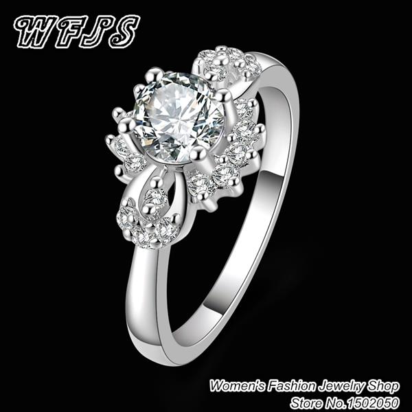 R371 Free Shipping wholesale fashion sapphire jewelry crystal jewelry 18K Platinum gold women Engagement Ring Top quality(China (Mainland))