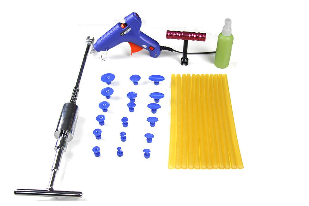 New Arrival PDR Tools Set - 34 Pcs Slide Hammer Glue Gun Short T Bar Paintless Dent Hail Removal Kit <br><br>Aliexpress