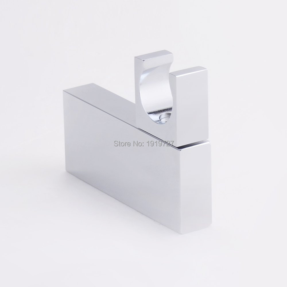 Square Style Solid Brass Chrome Wall Mounted Hand Shower Holder Pedestal Bracket In Wall Mounted Shower Bathroom Accessories(China (Mainland))