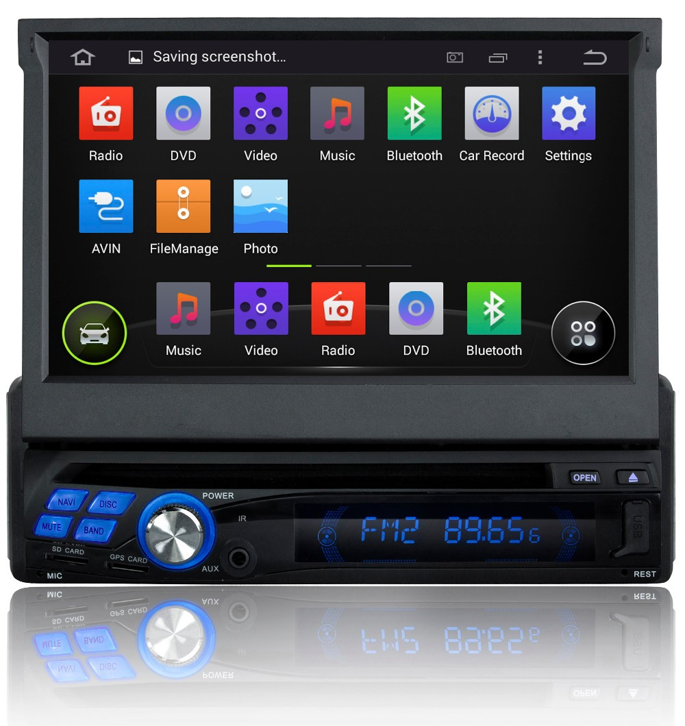 7 Inch 1 Din Android 5.1 Lollipop OS Universal Car DVD Player,16G Flash,4 Core CPU,1G DDR3 RAM,Touch screen GPS Navigation,Radio(China (Mainland))