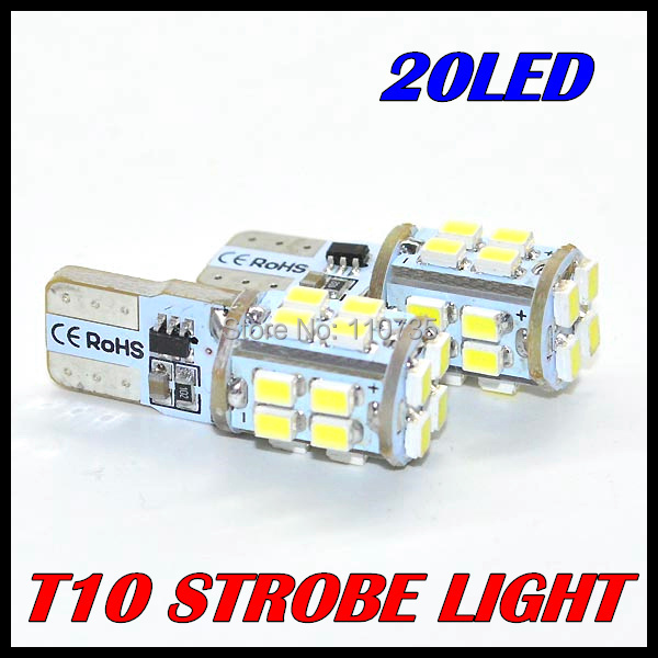 2PCS/LOT 2014 new products t10 Strobe flash w5w t10 20smd 1206 3020 20led smd white & cheap car led Light Bulbs free shipping(China (Mainland))