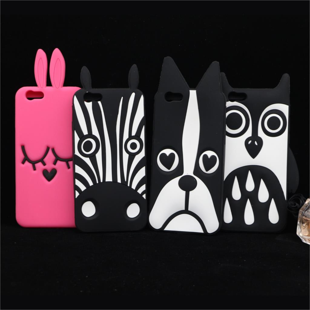 For iphone 6 plus 6G 5S 4S Cover New Cute Cartoon Dog Zebra Owl Silicone Case(China (Mainland))