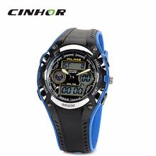 Ak9132 semejantes con estilo 50 m impermeable de los deportes del cuarzo del reloj Digital – negro + azul ( 1 x CR2016 )