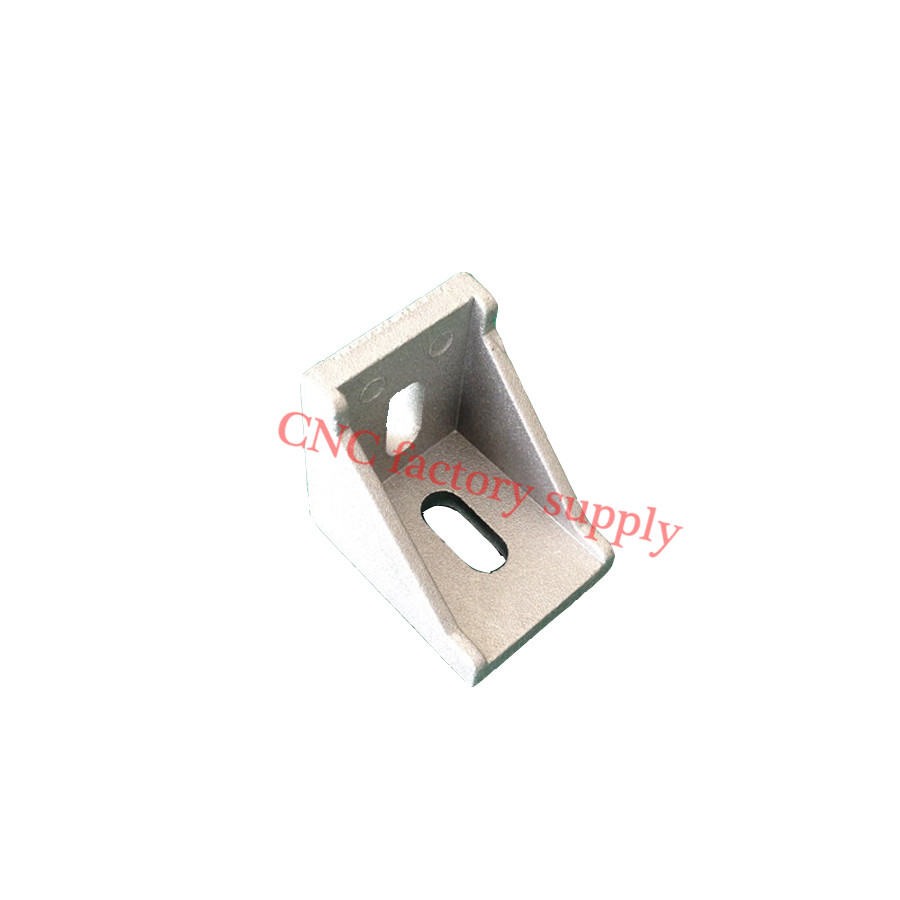 HOTSale 10pcs 3030 corner fitting angle aluminum 30 x 30 L connector bracket fastener match use 3030 industrial aluminum profile(China (Mainland))