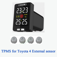 Car TPMS for toyota 4 external sensors PSI/BAR diagnostic-tool  tpms  careud tpms  tyre pressure monitoring system(China (Mainland))