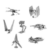 Buy 3D Jigsaw Puzzles Kids Star Wars 3D Nano Metal DIY scale Model Building Architecture educational toy toddlers for $4.88 in AliExpress store