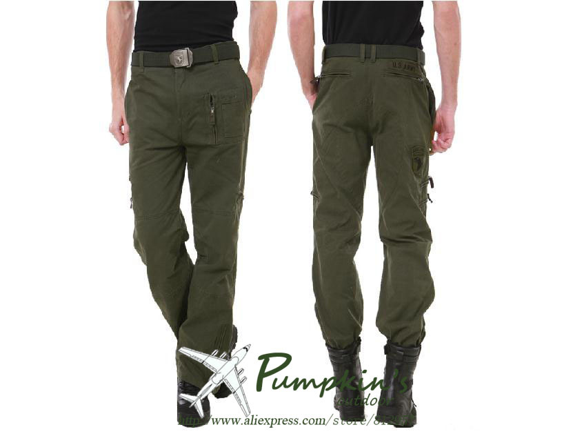 men u.s. airforce 101 air force tactical combat pants multi-pocket military uniform outdoors survial clothing army green - Anna's holiday store