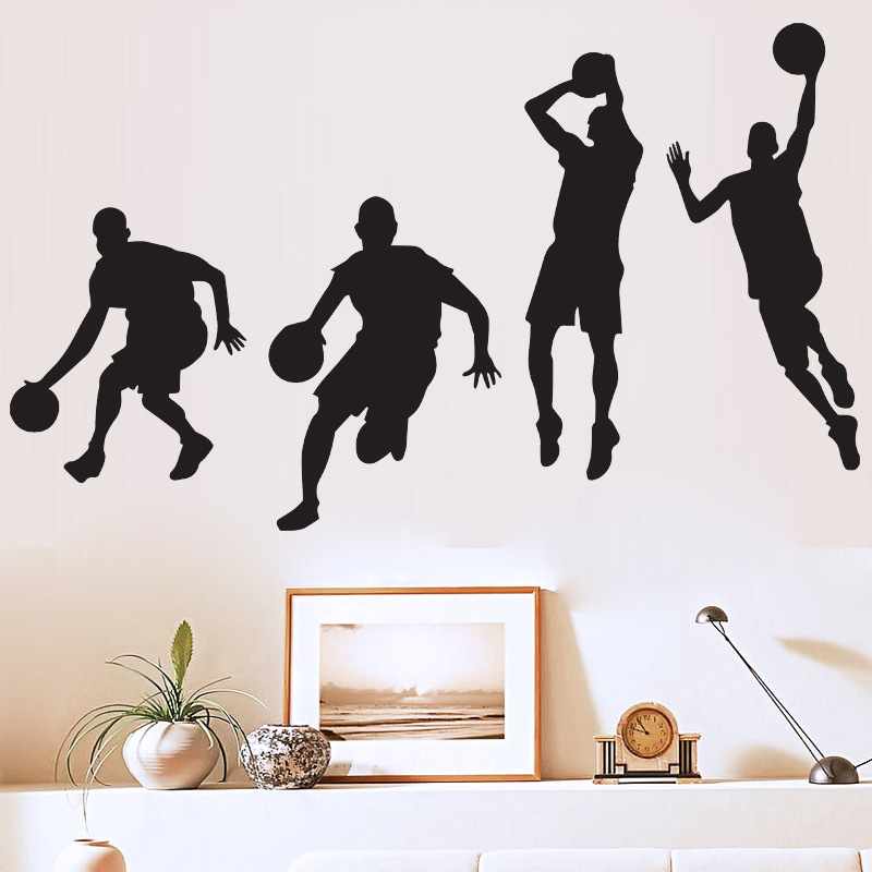 Popular basketball decorations buy cheap basketball for Basketball mural wallpaper