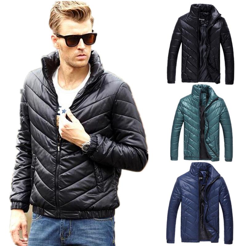 mens down jacket solid zipper cotton man jacket winter warm slim fit napapijri famous brand men winter jackets and coats MY110(China (Mainland))