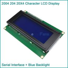 Blue Display IIC I2C TWI SP  I Serial Interface2004 20X4 Character LCD Module(China (Mainland))