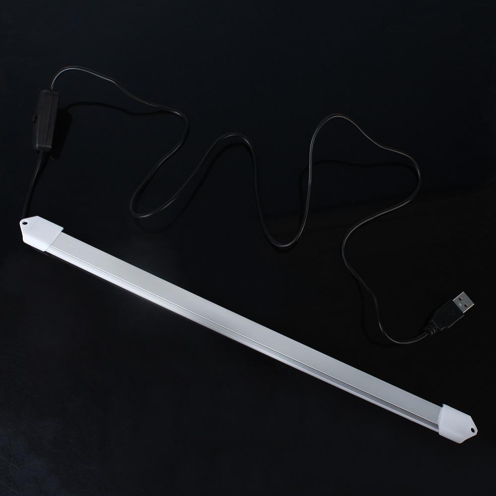 USB 5V 30 Led 5630 Hard Strip Light Tube Cool White Lamp Bulb w/ On/Off Switch(China (Mainland))